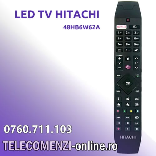 Telecomanda HITACHI model 48HB6W62A